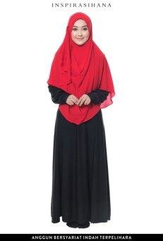 Harga Shawl Instant Bubble Chiffon Layer Ayuna Two Loops(Red Chilli)