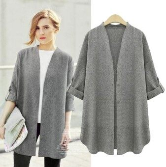 Harga Grey European Styled Jacket