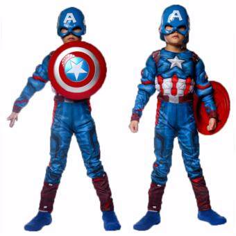 Harga Captain America Muscle Kids Costume with LED Mask