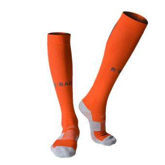 Harga 2 Pairs Men's Sports Athletic Compression Football Soccer Socks Long Over Knee High Socks - orange