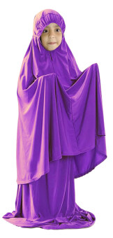 Harga Hijabera - Ismi Telekung Set For Kids (Purple)