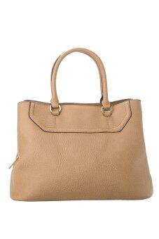 Harga Mango Pebbled Square Tote Bag ( Beige )