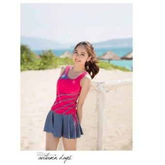 Harga 970140SWPK 【Ready Stock Fast Delivery】 Korean Fashion Swim Suit 3pcs Sets