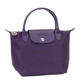 Harga Longchamp Planetes Short Handle Small LC014A (Bilberry)