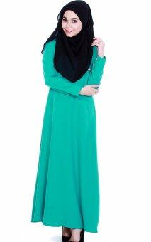 Harga JF Fashion Delina Jubah Button C367 (Turquoise)