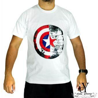 Harga CY-D21008 SUPERHERO T.SHIRT MARVEL CAPTAIN AMERICA AVENGERS [white]