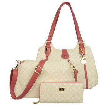 Harga 100% Original British Polo Hot Sale Value Set Handbag Pink (PL51044-04)