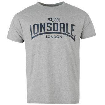 Harga Lonsdale Mens Box T Shirt Short Sleeve Round Neck Casual Tee Top Clothing Grey M
