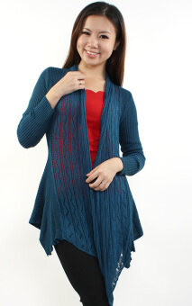 Harga JF Fashion Knitted Cardigan D062 (Dark-Turquoise)