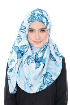 Harga Benang Hijau Ashley Premium Shawl - Blue Butterfly