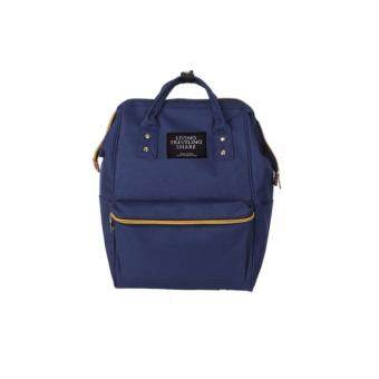 Harga Japan Style Canvas Backpack (Navy)