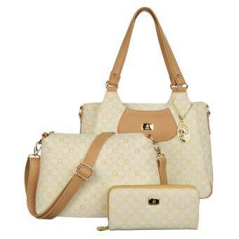 Harga 100% British Polo Hot Sale Value Set Handbag Khaki (PL51045-06)