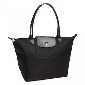 Harga Longchamp Planetes Long Handle Medium LC015A (Black)
