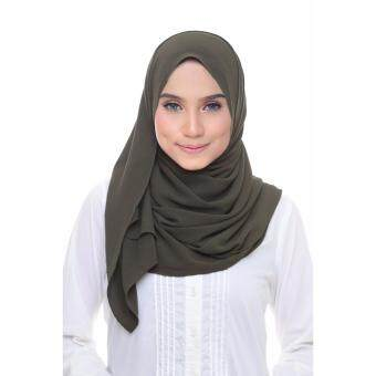 Harga Laura Chiffon Long Shawl - Army Green