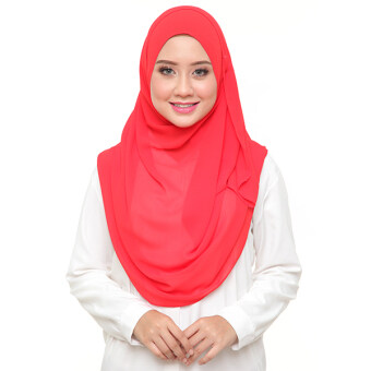Harga Instant Shawl Afnan Series (Chili Red)