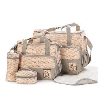 Harga Sokano 5in1 Mummy Essential Diaper Bag_Khaki