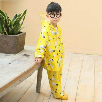 Harga Children Raincoat Rain Pants Suit Separate Boys and Girls Primary School Students Big Hat Raincoats