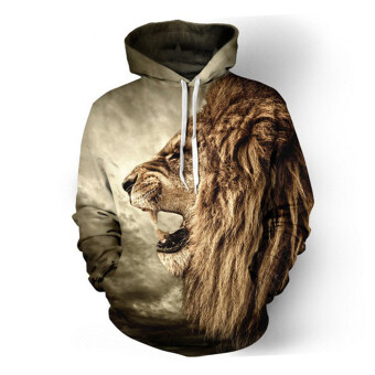 Harga Men Hoodies Hip Hop Sweatshirt Funny 3D Lion Tracksuit Pullovers