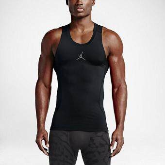 Harga NIKE MEN JORDAN AJ ALL SEASON COMPRESSION TANK BLACK 683945-010 S-2XL 02'