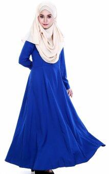 Harga JF Fashion Delina Jubah Button C367 (Electric-Blue)