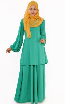 Harga JF Fashion Ana Blouse with skirt J353 (Green)