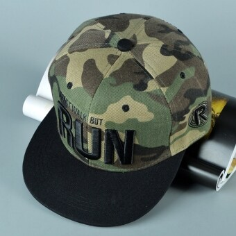 Harga TEEMI Snapback Hip Hop Hats Adjustable Baseball Cap RUN - Camouflage