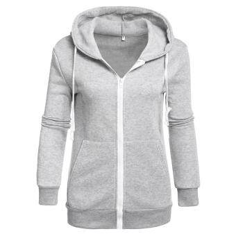 Harga MG Hoodie Sweatshirt Sweater Hooded Top(Grey)