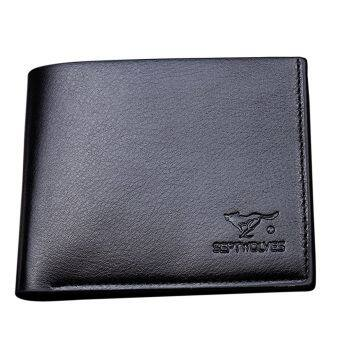 Harga SoKaNo Trendz Sept Wolves Wallet - Black