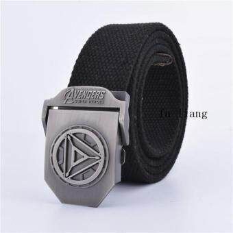 Harga Men's jeans all-match tactical belt canvas belt round a male triangle belt