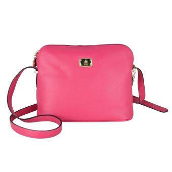 Harga British Polo Colourful Women Sling Bag (Dark Pink)