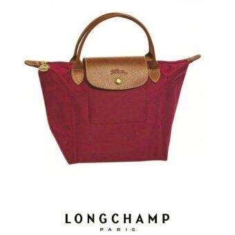 Harga AUTHENTIC LONGCHAMP LE PLIAGE TOTE 1621089 SMALL/SHORT HANDLE (BORDEAUX)