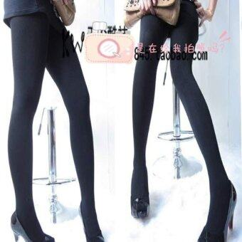 Harga MG Winter Slim Fleece Tights Pantyhose Warmers Leggings (Black)