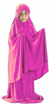 Harga Hijabera - Kidstar Telekung Set With Crystals (Dark Pink)