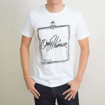 Harga Fidelio Only Human Graphic T-Shirt (White)
