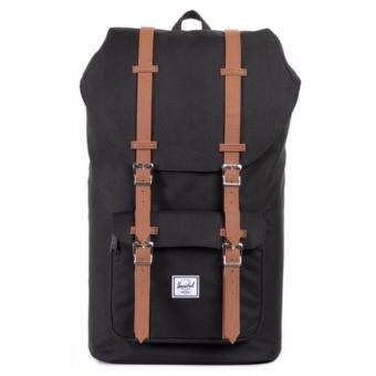 Harga Herschel Little America Mid-Volume - Black/Tan
