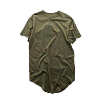 Harga Fancyqube Men Short Sleeve Extended Hip Hop T Shirt Oversized Hip Hop Swag Clothes Army Green