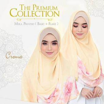 Harga [Escarves] The Premium Collection - Mika Printed / Instant Shawl / Wide Shawl - Mika Crema