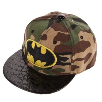 Harga Hip-Hop SnapBack Batman Baseball Cap Children Sports Hats(Camouflage)