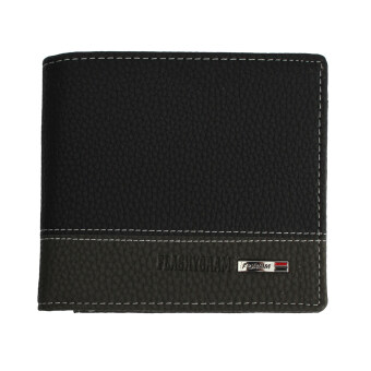Harga Leather Bifold Money Wallet Coin Purse Clutch Pockets Black