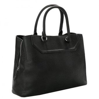 Harga Mango Pebbled Square Tote Bag ( Black )