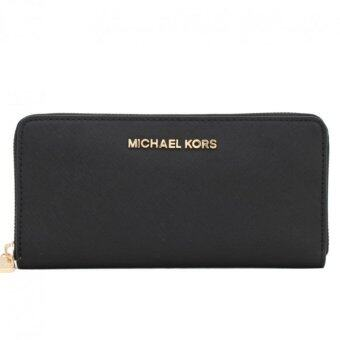 Harga Michael Kors Saffiano Leather Wallet ( Black )