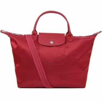 Harga Longchamp Women's Le Pliage Neo Handbag, Red,100% authentic guarantee
