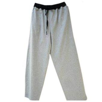 Harga Man 100% Cotton Pyjama Trousers Long Trousers Light Grey M