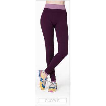 Harga High Quality Women Yoga Pant, Sport, Zumba, Fitness Gym Stretch Pant Trouser, Exercise, Jog, Legging (Purple)