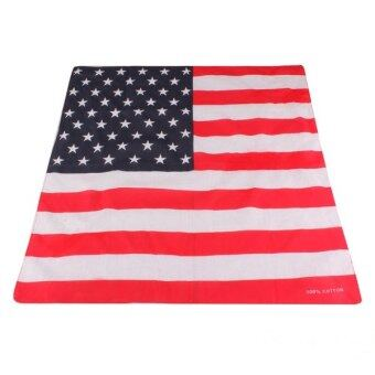 Harga Unisex America Flag Pattern Hip-hop Bandanas Fashion Kerchief
