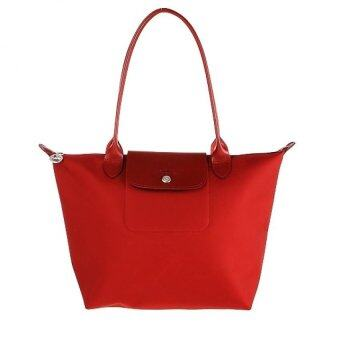 Harga Longchamp Planetes Long Handle Medium (Red)