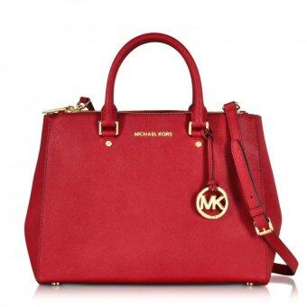 Harga Michael Kors Sutton Medium Satchel (Red)