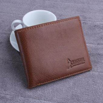 Harga High Quality Store New New Mens Leather Wallet Card Bifold Money Clip Holder Coin Purse Pockets Wallet Dark Coffee