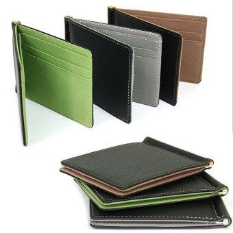Harga Super Thin Wallet Mens Leather 2016 Synthetic Leather Money Clips Sollid Thin Wallet For Men
