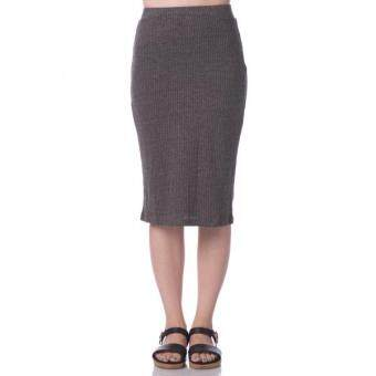 Harga Nichii Straight Knee Length Skirt (Dark Grey)